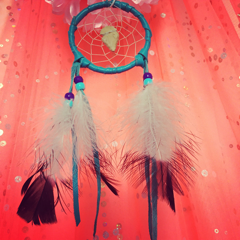 Dreamcatcher I found at a local charity shop is giving me crazy ass dreams