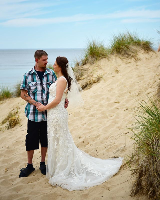 Crystal and Brett tied the knot on a perfect spring day on our Pure Michigan beach!