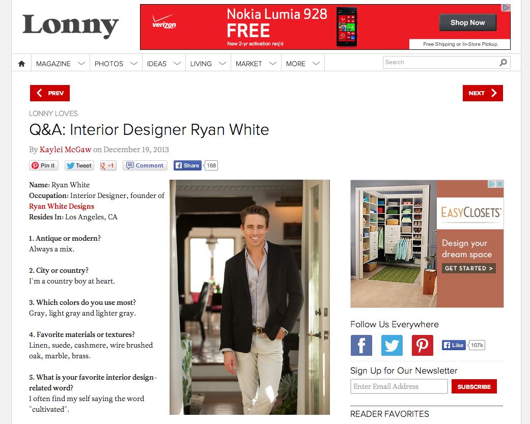 Q&A: Interior Designer Ryan White