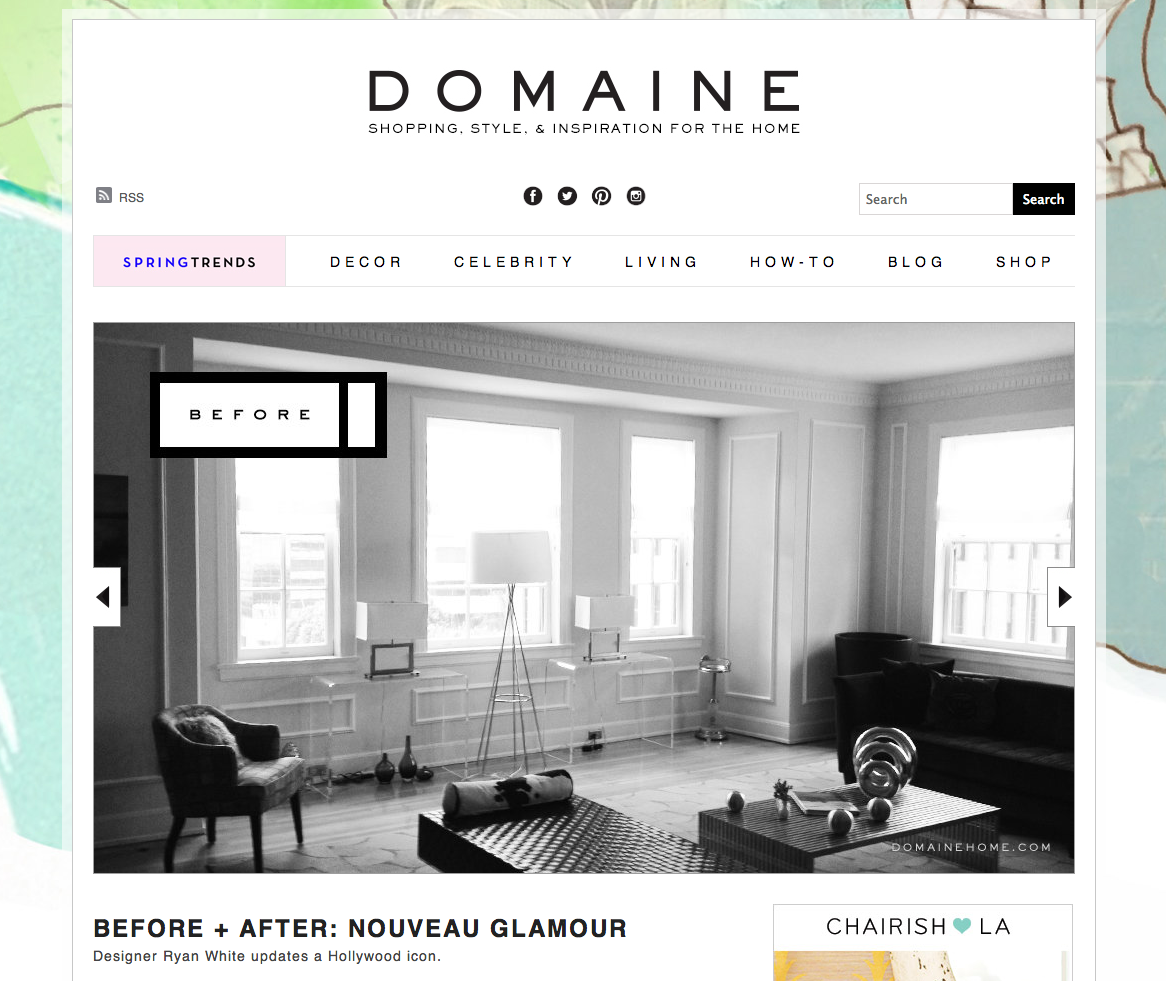 BEFORE + AFTER: NOUVEAU GLAMOUR