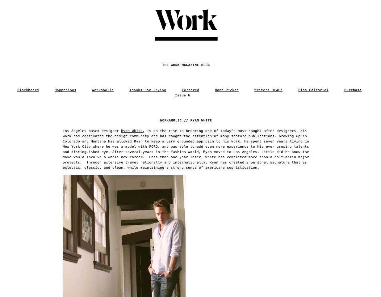 Workaholic // Ryan White