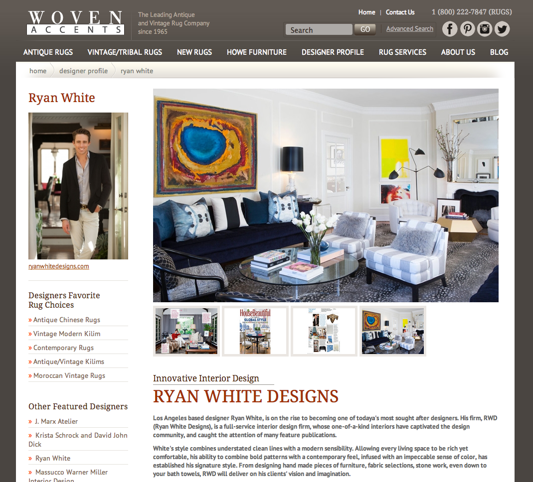 Woven Accents features Ryan White