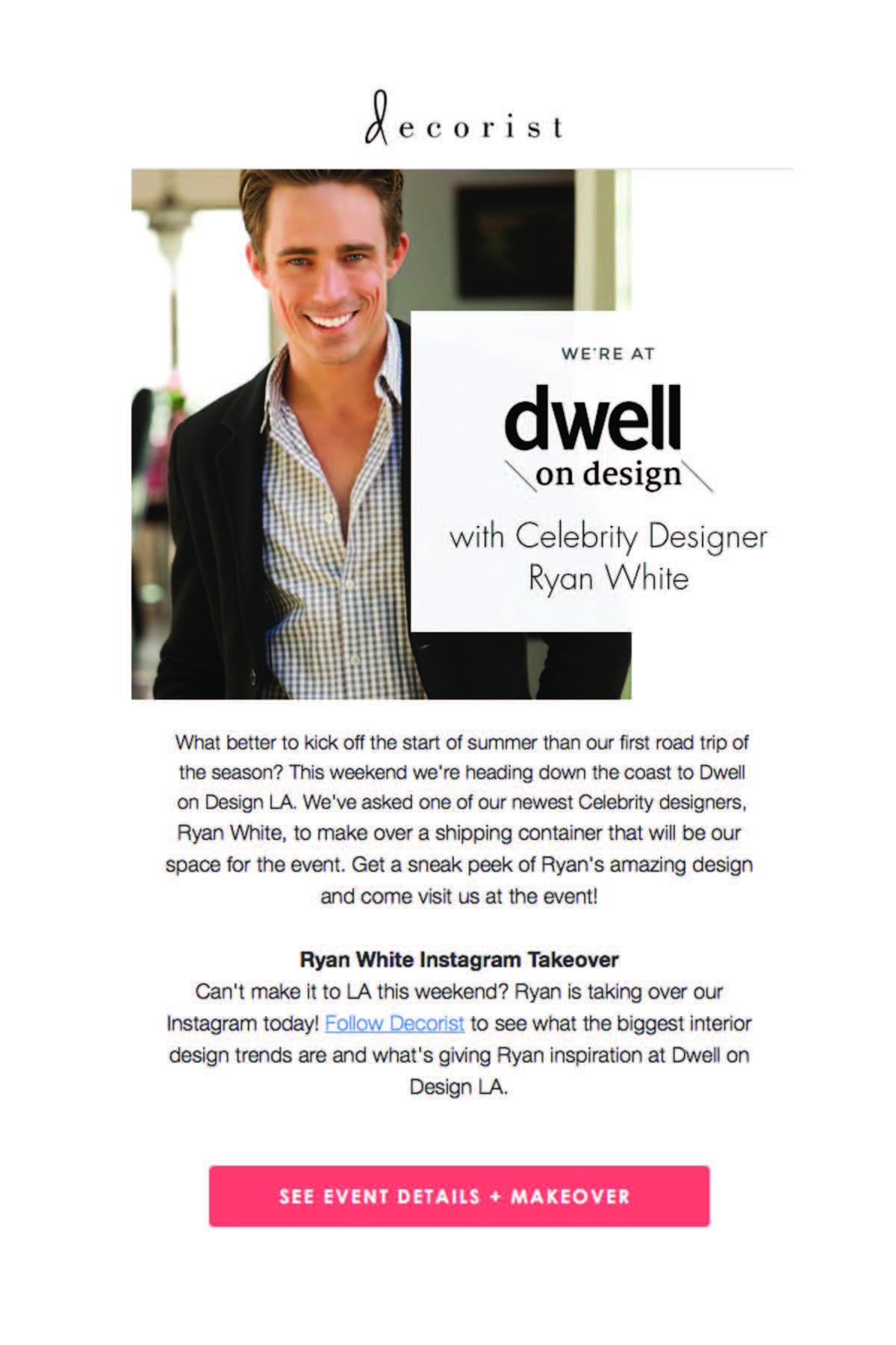 RWD w/ Decorist for Dwell on Design LA