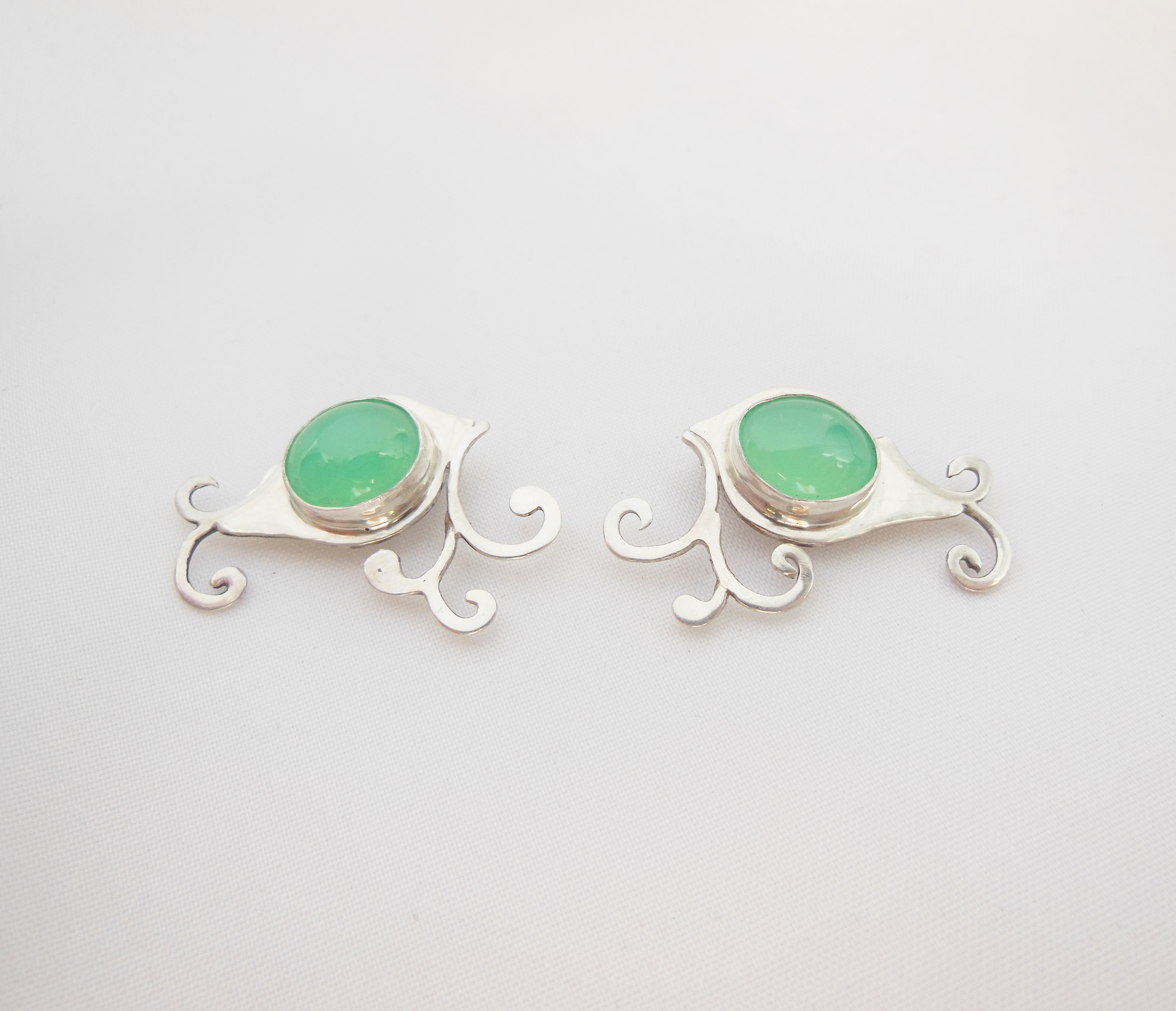 Made with Customer's Stones. Clip-On Post Earrings