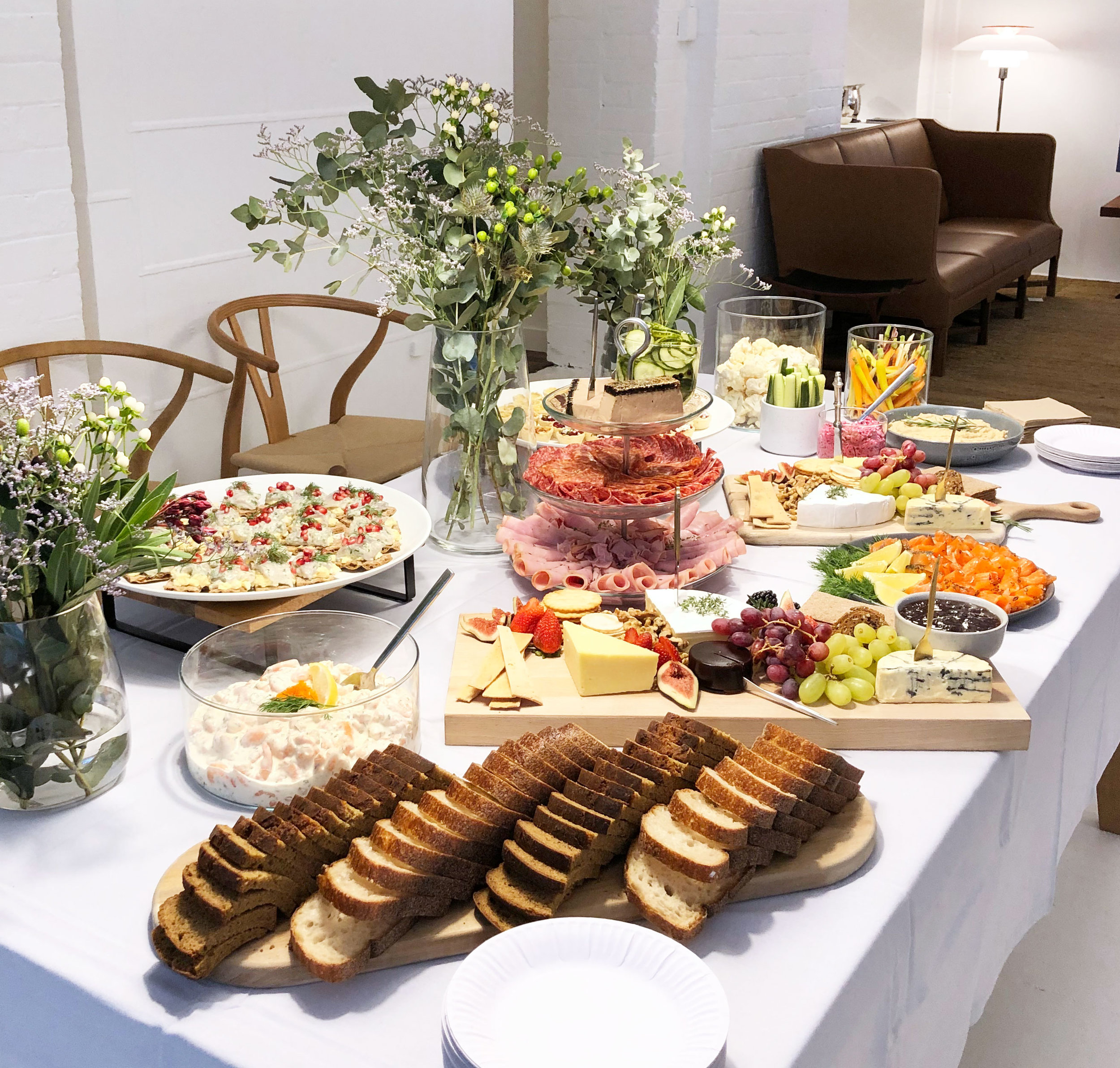 Grazing table for Anna-Carin Design's book launch at Cult