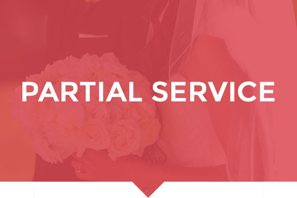 Partial Service Wedding Planning