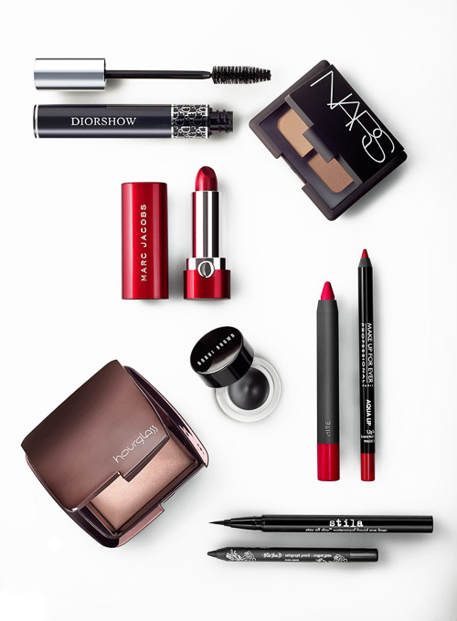My favorite, probably because of the red Marc Jacobs lipstick case, although...