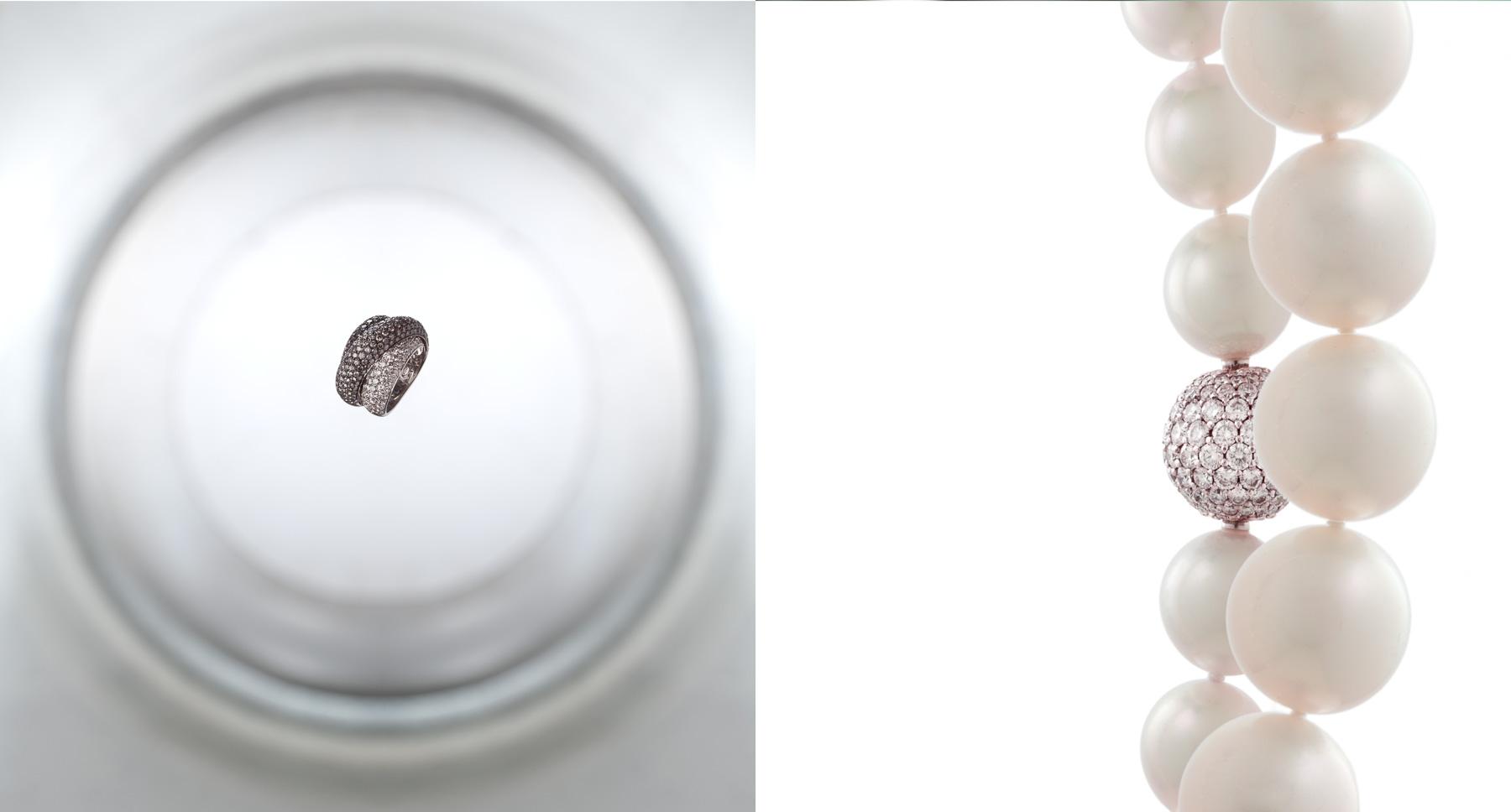 25.5 ct Quartz, 25.0 ct Citrine and 1.32 ct Diamond Ring in 18kt