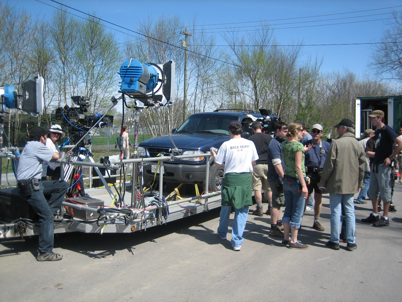 Dream Street Pictures - Sticks and Stones - behind the scenes truck rig