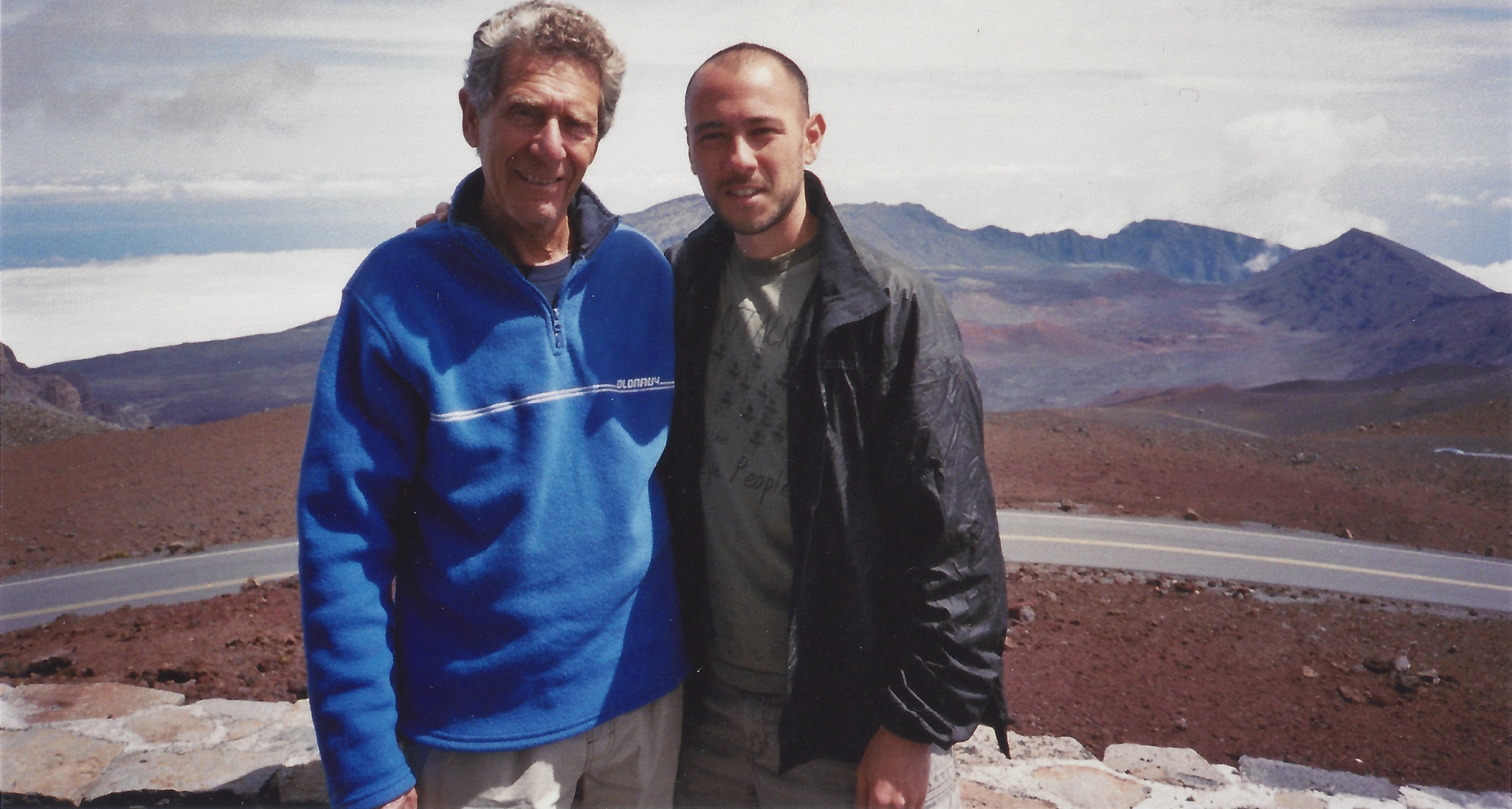 Paul with Feldenkrais trainer Jerry Karzen Haleakala, Hawaii 2007