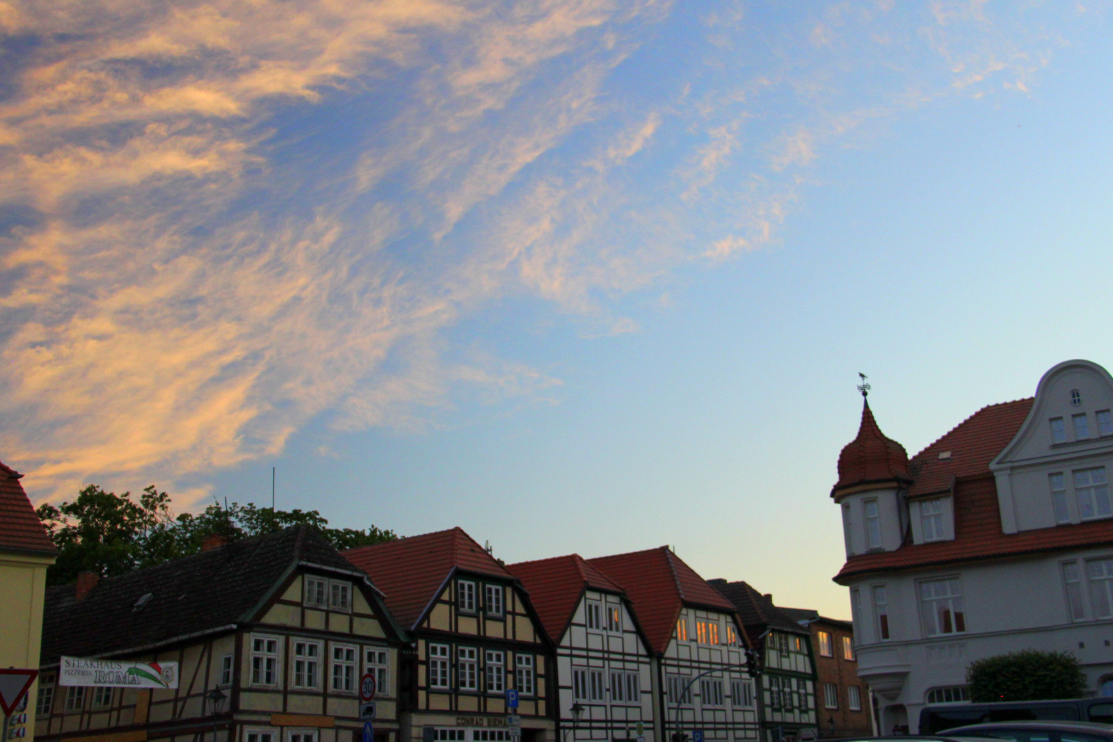 Neustadt Glewe sunset