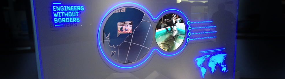 "New display technology inspired by the film ""Minority Report"" - developed for the Engineering Excellence Awards 2011 Exhibition."