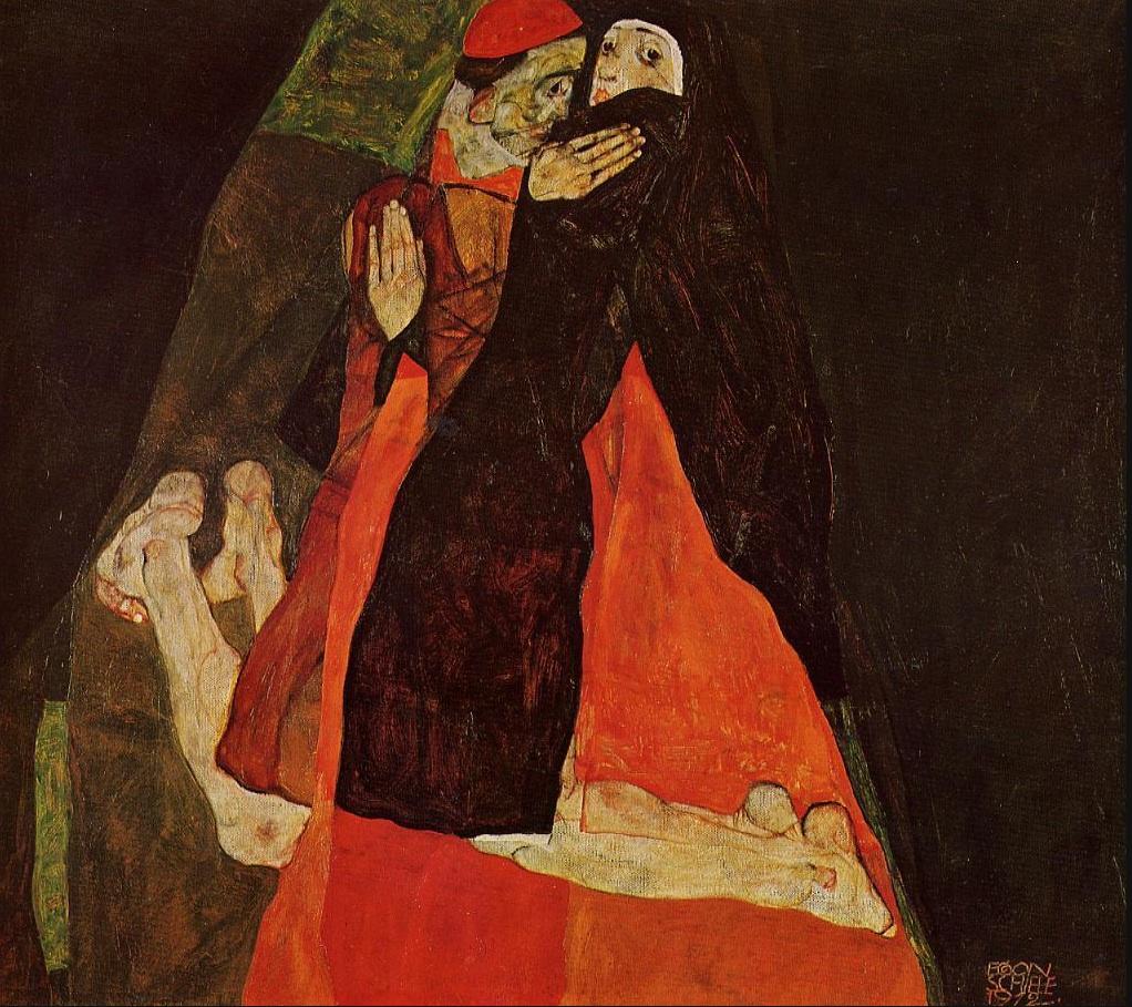 Cardinal and Nun (Caress) (1912)