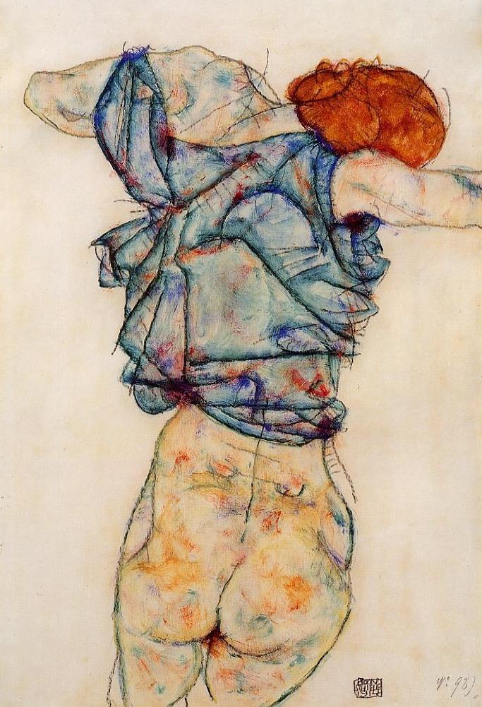 Woman Undressing (1914)