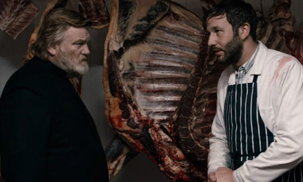 Brendan Gleeson and Chris O'Dowd in 'Calvary'. Courtesy of Fox Searchlight.