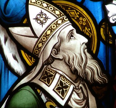 """St. Ambrose  (b.340 AD) is one of the four original doctors of the Church. He's credited with developing antiphonal (or  call and response ) chant, as well as the famous 'Te Deum' (""""We praise thee, O God..."""") text."""