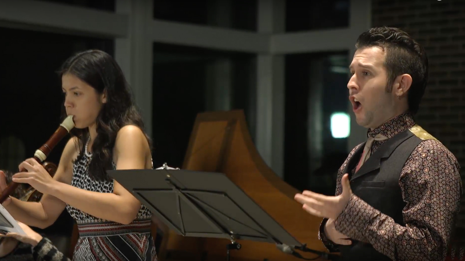 Laura Osterlund and Thomas Alaan perform  I.Iman  from  Two Assyrian Songs . The movement tells the story of Iman as she escaped from Iraq in the 1980s.