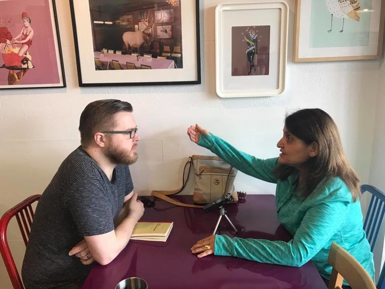 Eric Malmquist interviews Iman for his new work. Eric interviewed members of the Assyrian refugee community for his new work,  Two Assyrian Songs .