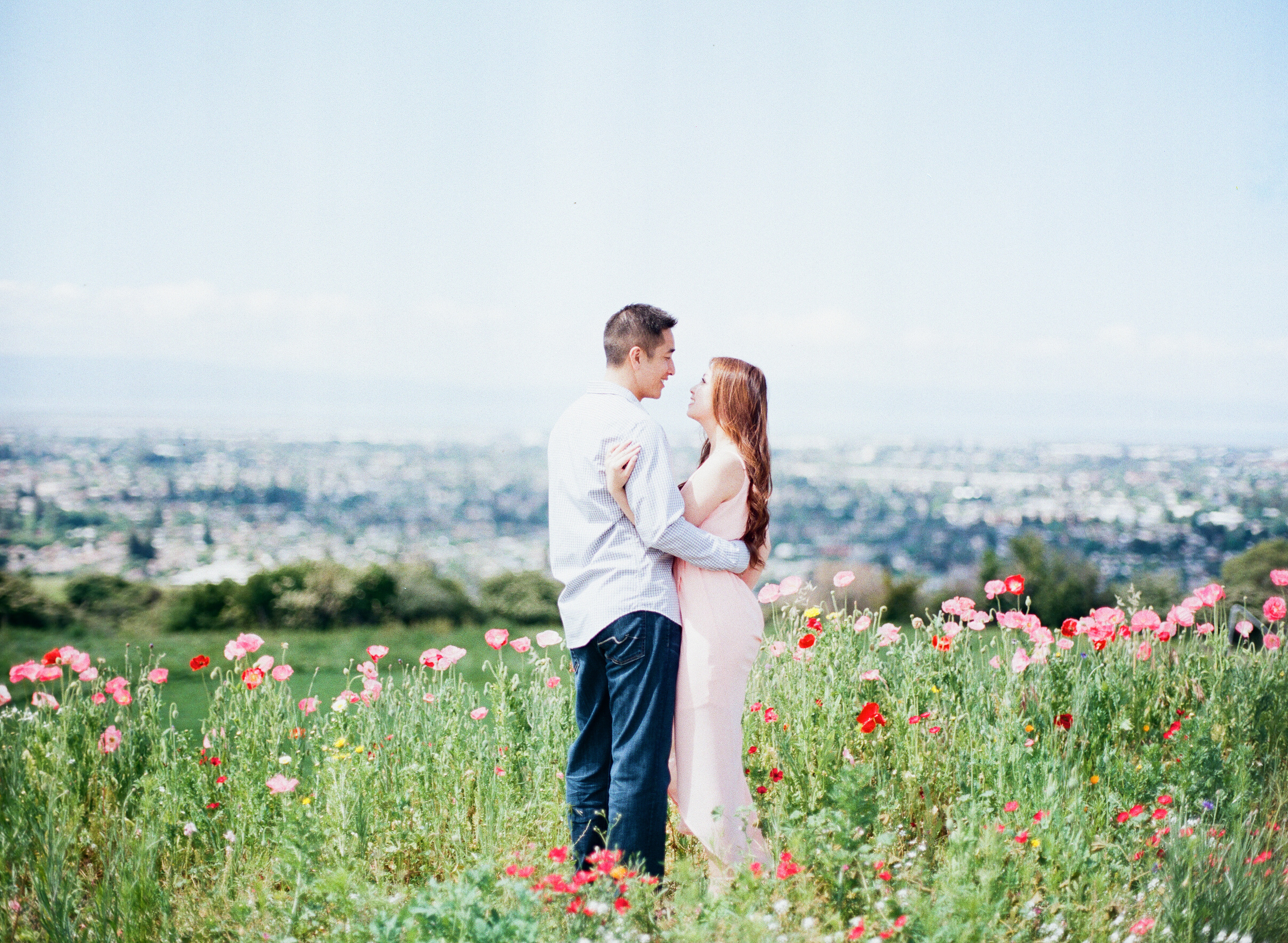 Spring Engagement film photographer