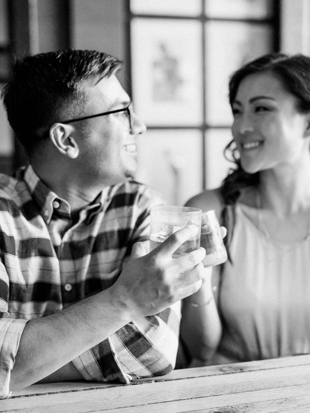 Portland Cafe Engagement Session Film Photographer Jenny Soi
