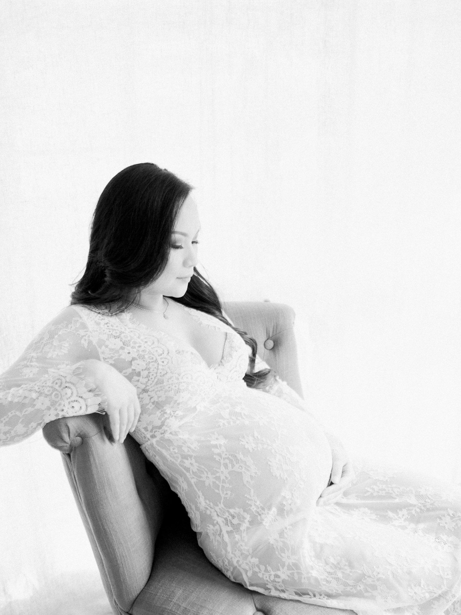 Fine Art Maternity Boudoir Session - SF Photographer