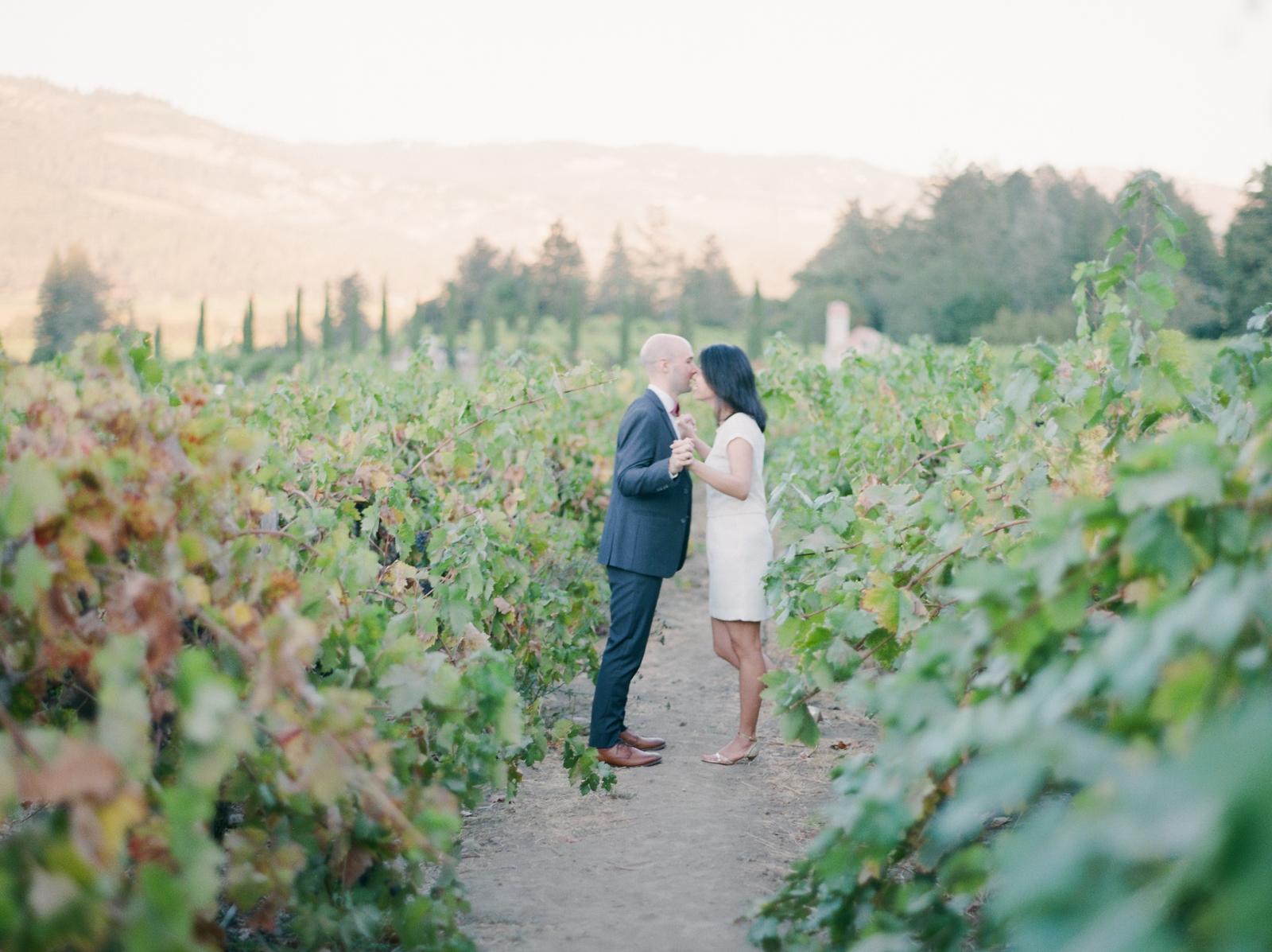 Napa Vally Engagement Fine Art Film Photographer