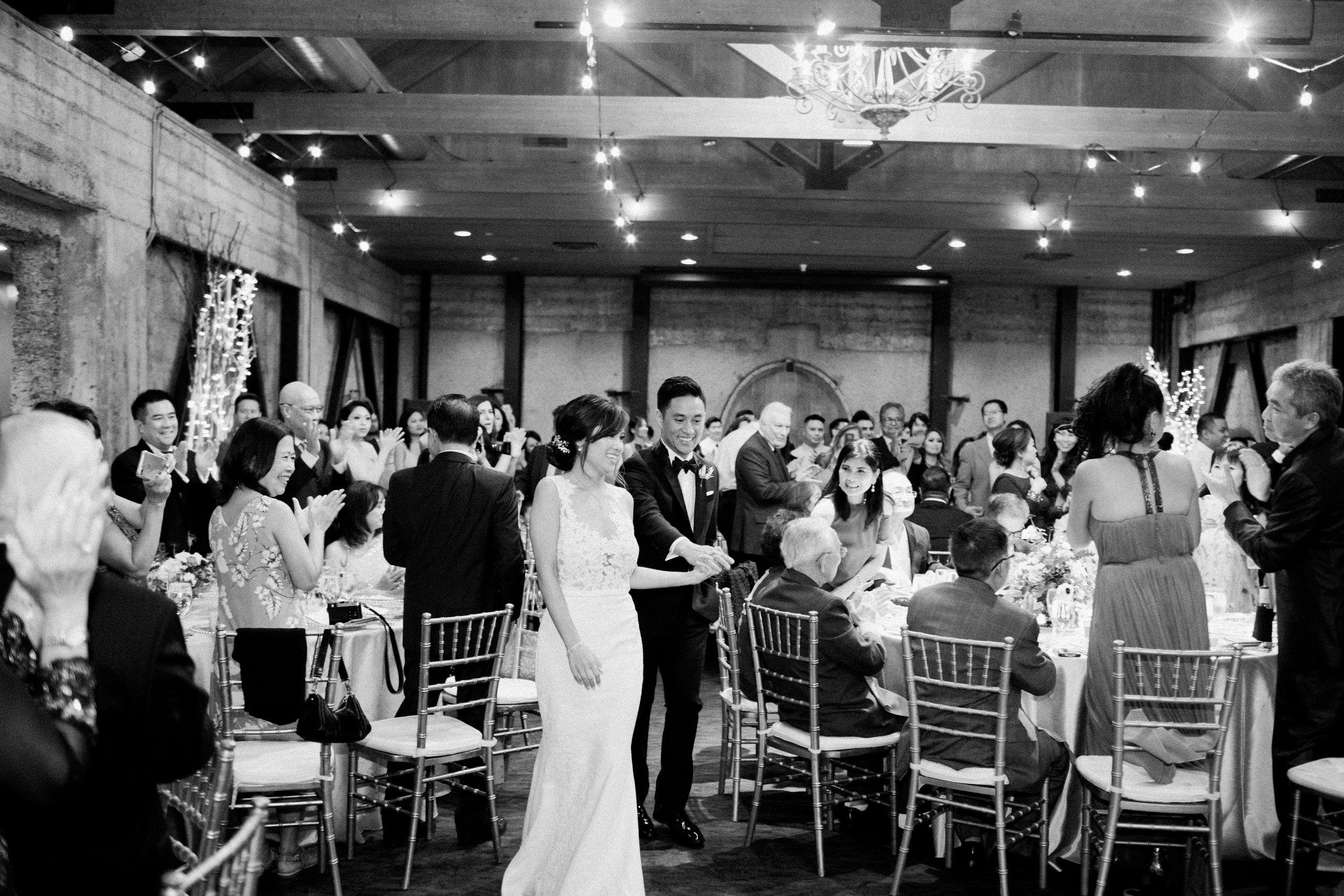 black and white fine art film photographer mountain winery saratoga wedding