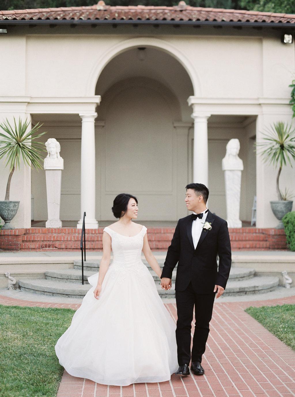 Villa Montalvo Saratoga Film Photographer Wedding