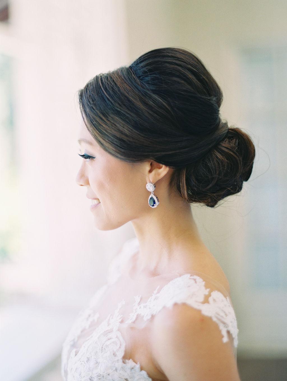 Film Destination Wedding California Fine Art Photographer Jenny Soi - All White Wedding at Villa Montalvo Saratoga, CA  - Bridal Hair perfection by Lela Nguyen