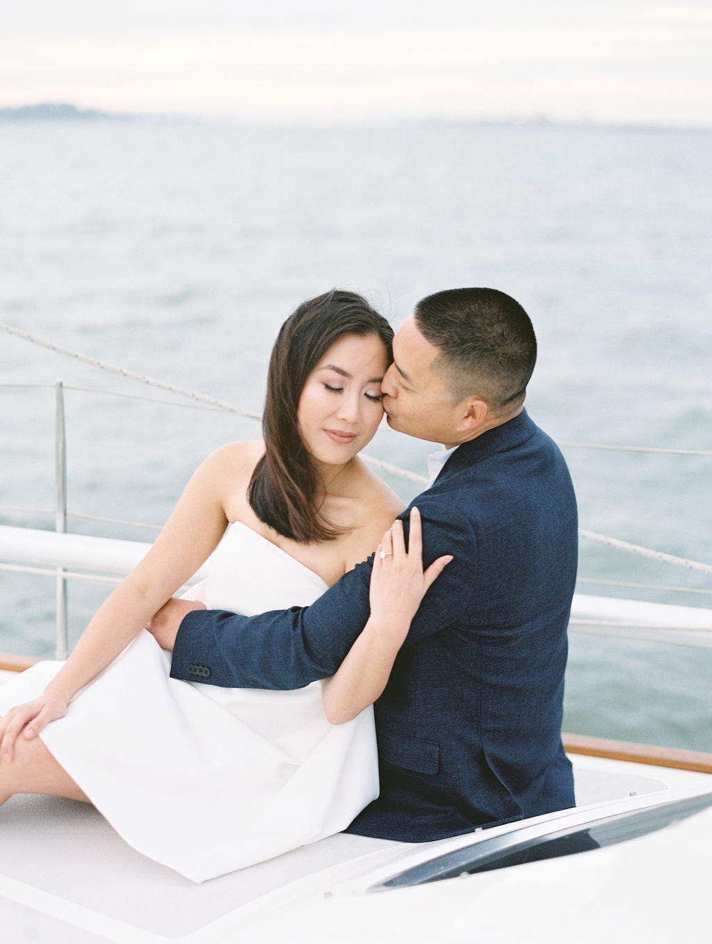 California Film Photographer Yacht Engagement session