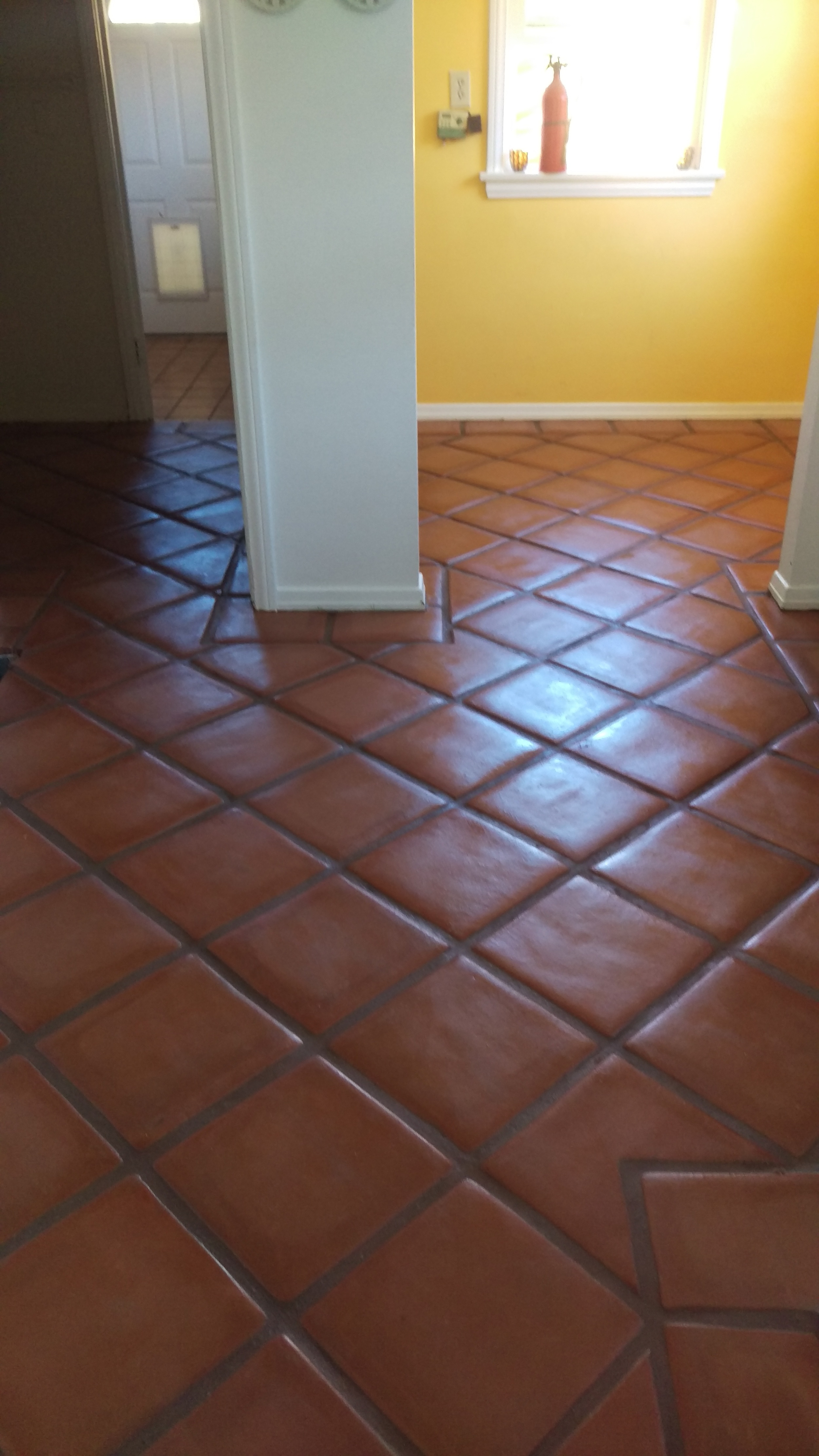 Lincoln Tecate with OLE Mexican Tile Sealer applied & Sand Beige Sanded Grout by Bostik