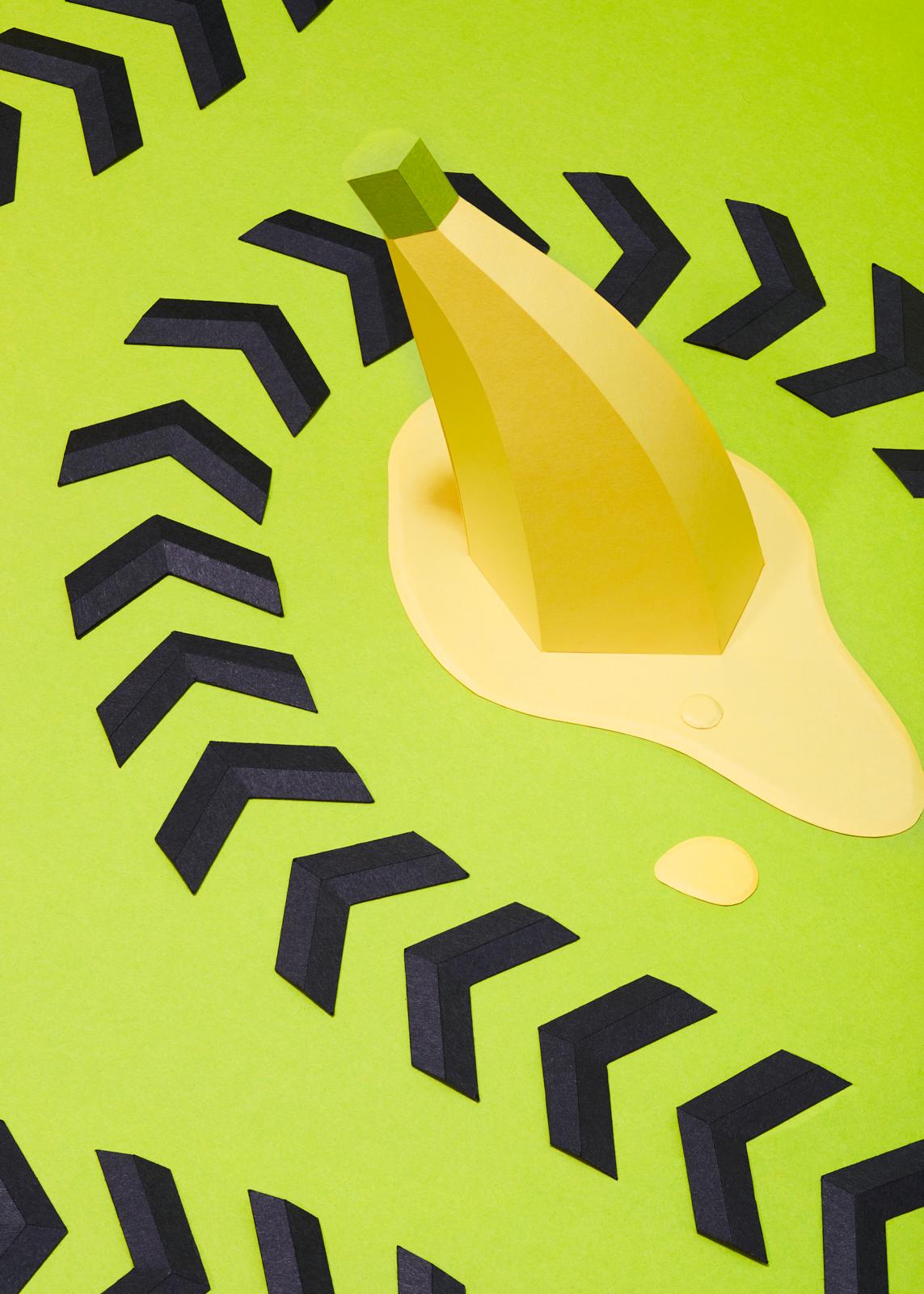 Mario Cart paper banana
