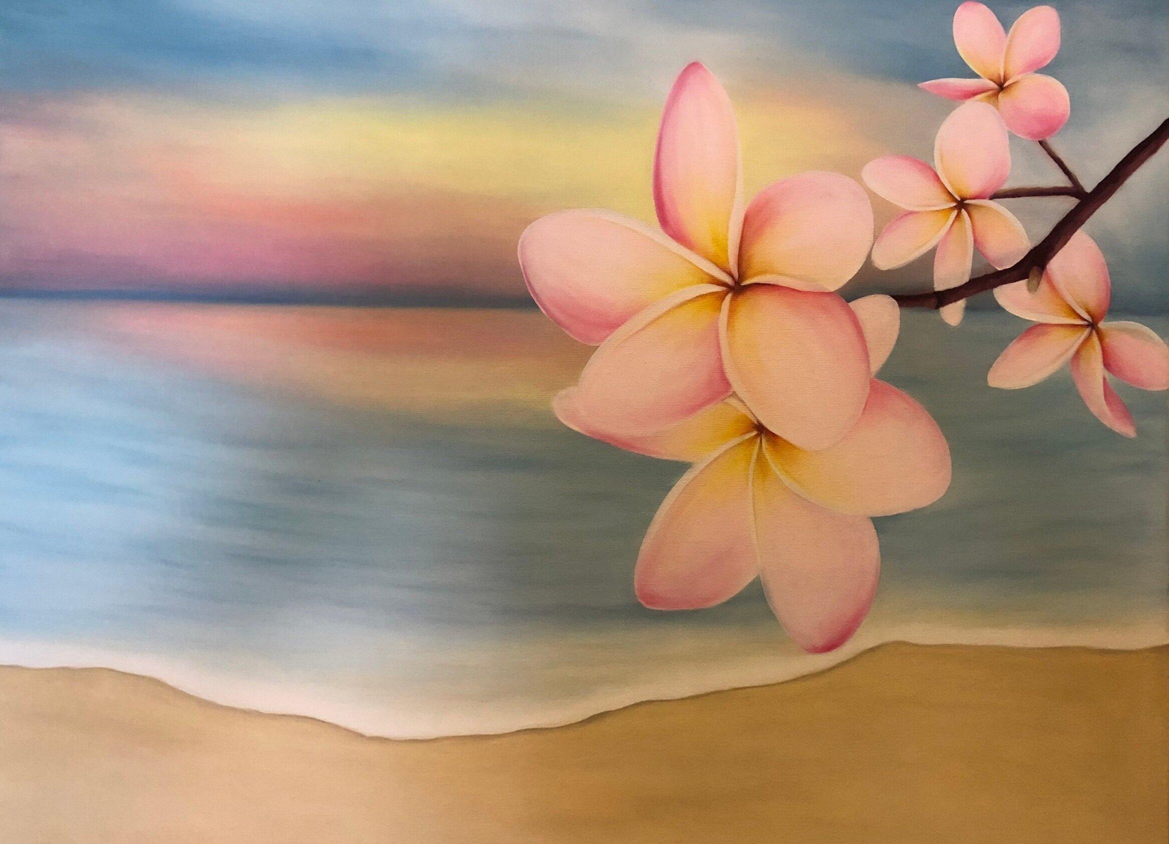 "24"" X 18"" Floral - Wood Frame - Canvas"