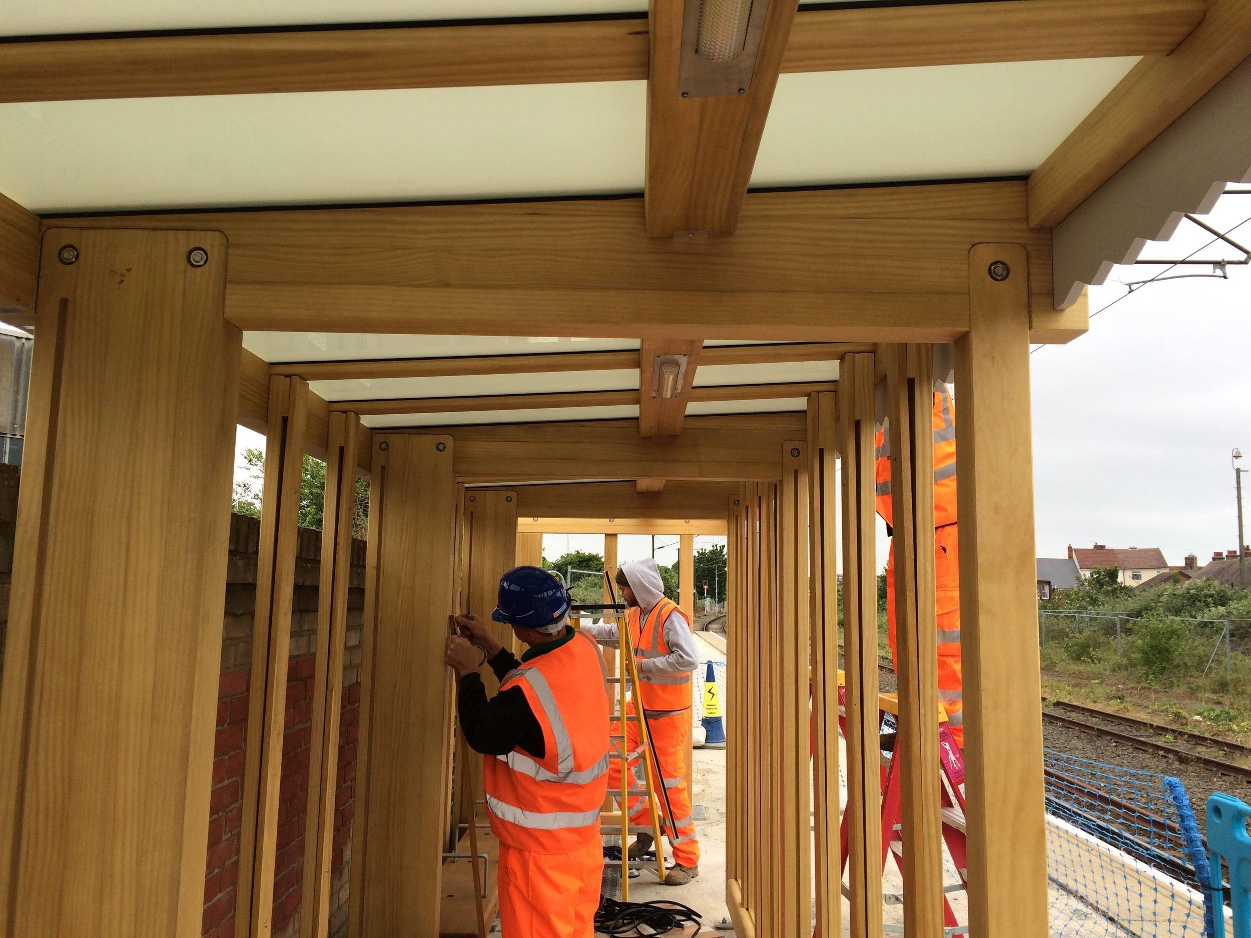On Site Rail Shelter Installation