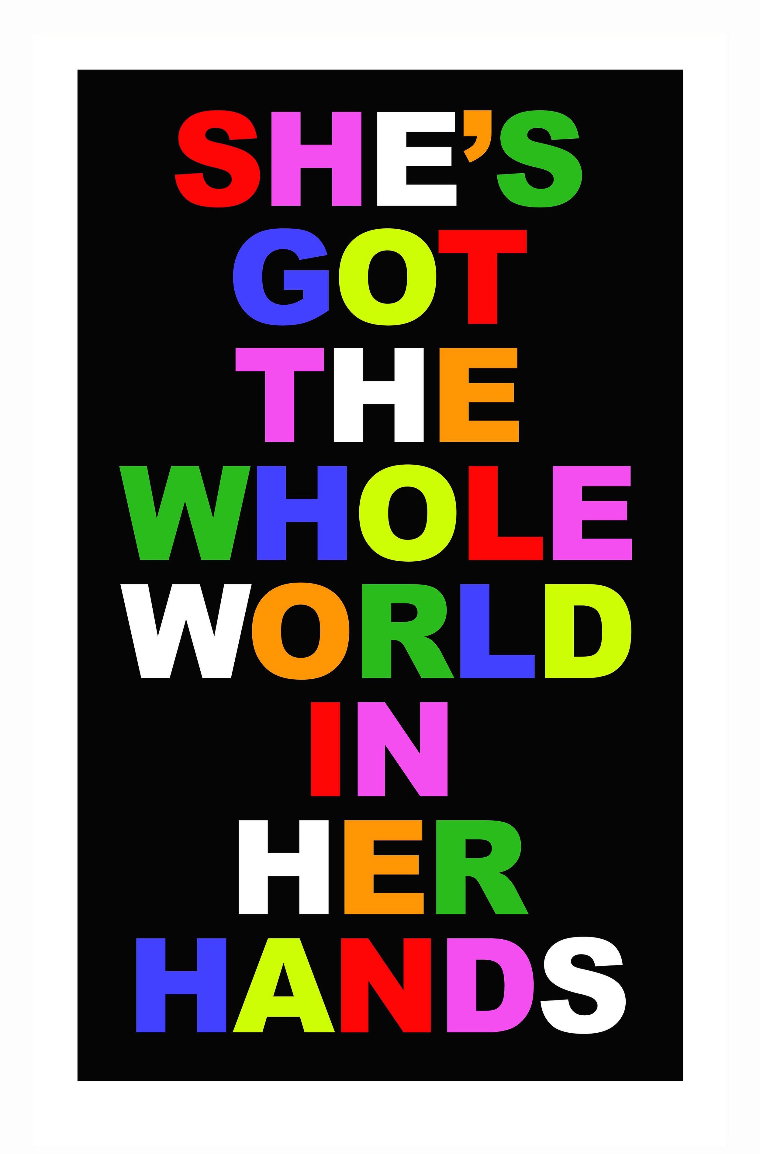 She's got the whole world in her hands screen print small.jpg