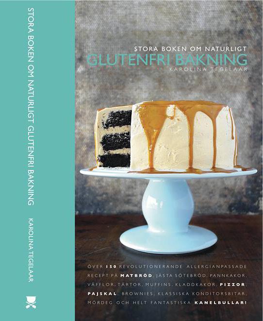 Stora boken om glutenfri bakning säljs här på hemsidan och via flera andra bokhandlare. Den är inbunden och i B5. Den är slutsåld inom kort.