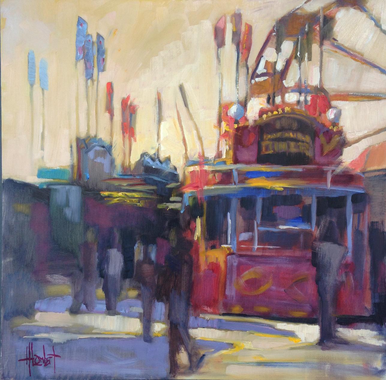 """Day at the Fair"", 18x18 $2100"