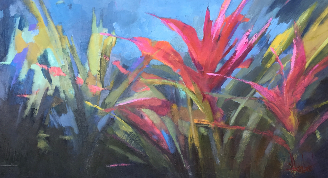 """The Botanicals #7""  24x36 oil on board. $3800"