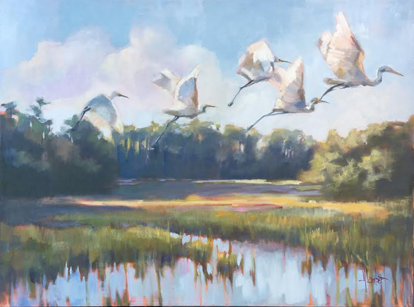 """Morning Beauty"", 30x40 SOLD  Southeastern Wildlife Exposition, Feb. 15-17 Charleston Place Ballroom (tickets are on line at sewe.com.  Really think this show is going to be outstanding this year!"