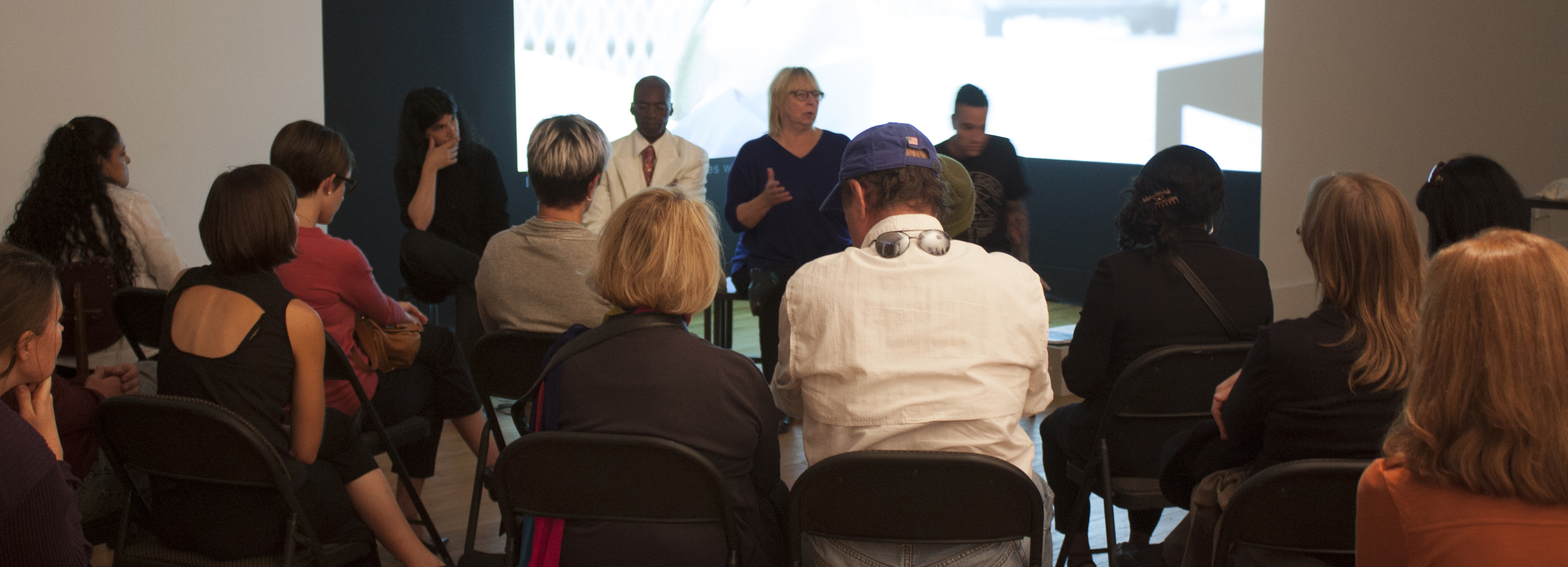 Panel discussion hosted by Edwin gallery, Detroit, during a preview exhibition of Natural Life, Fall 2013