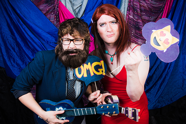 Even our Disk Jockey, DD Riot, dressed the part (right). Photo by  Fun Loving Photos