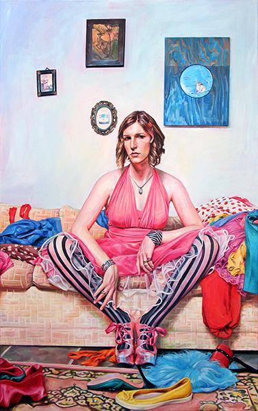 "Self-portrait, ""Adolescence,"" by Drew Johnson"