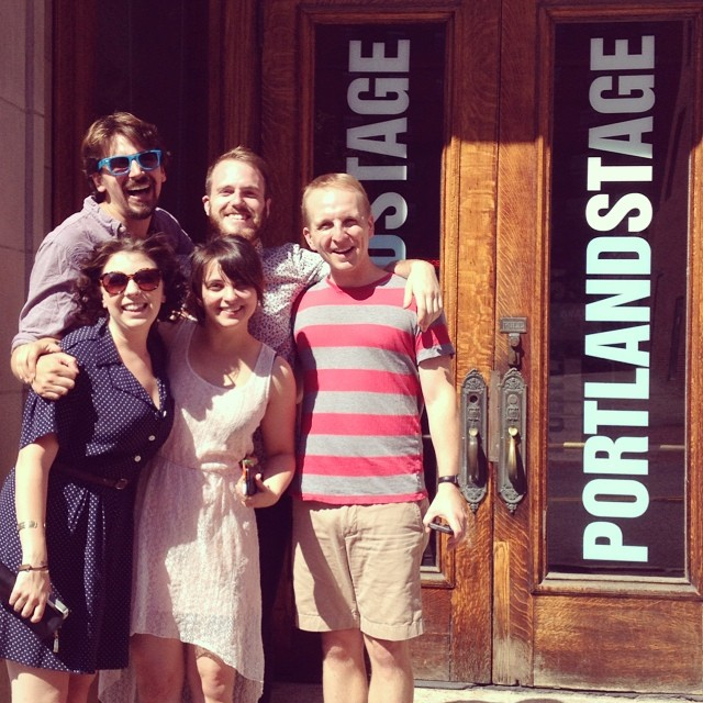 The Scientists  crew arrive at Portland Stage Company for PortFringe 2014