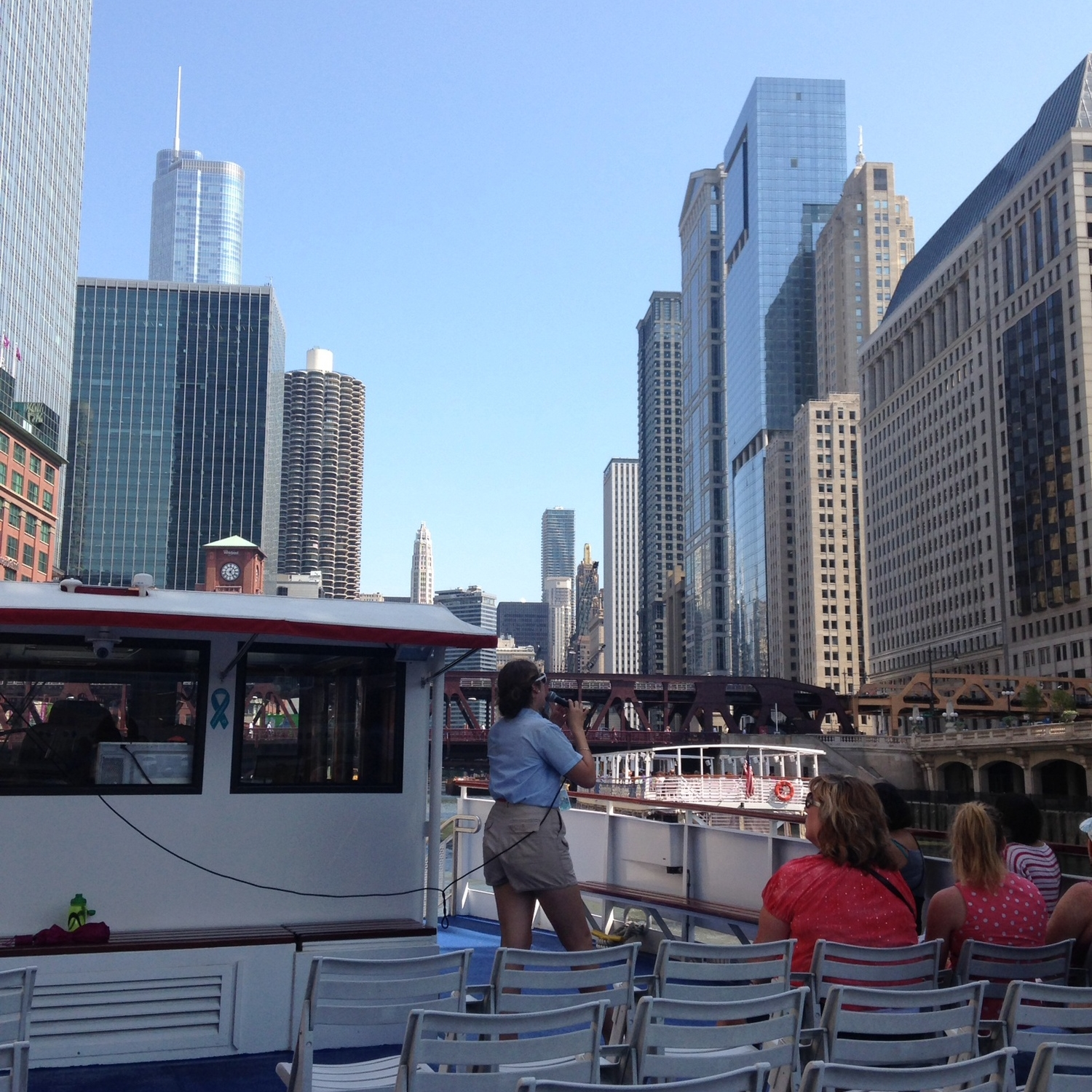 View from the architecture boat tour!