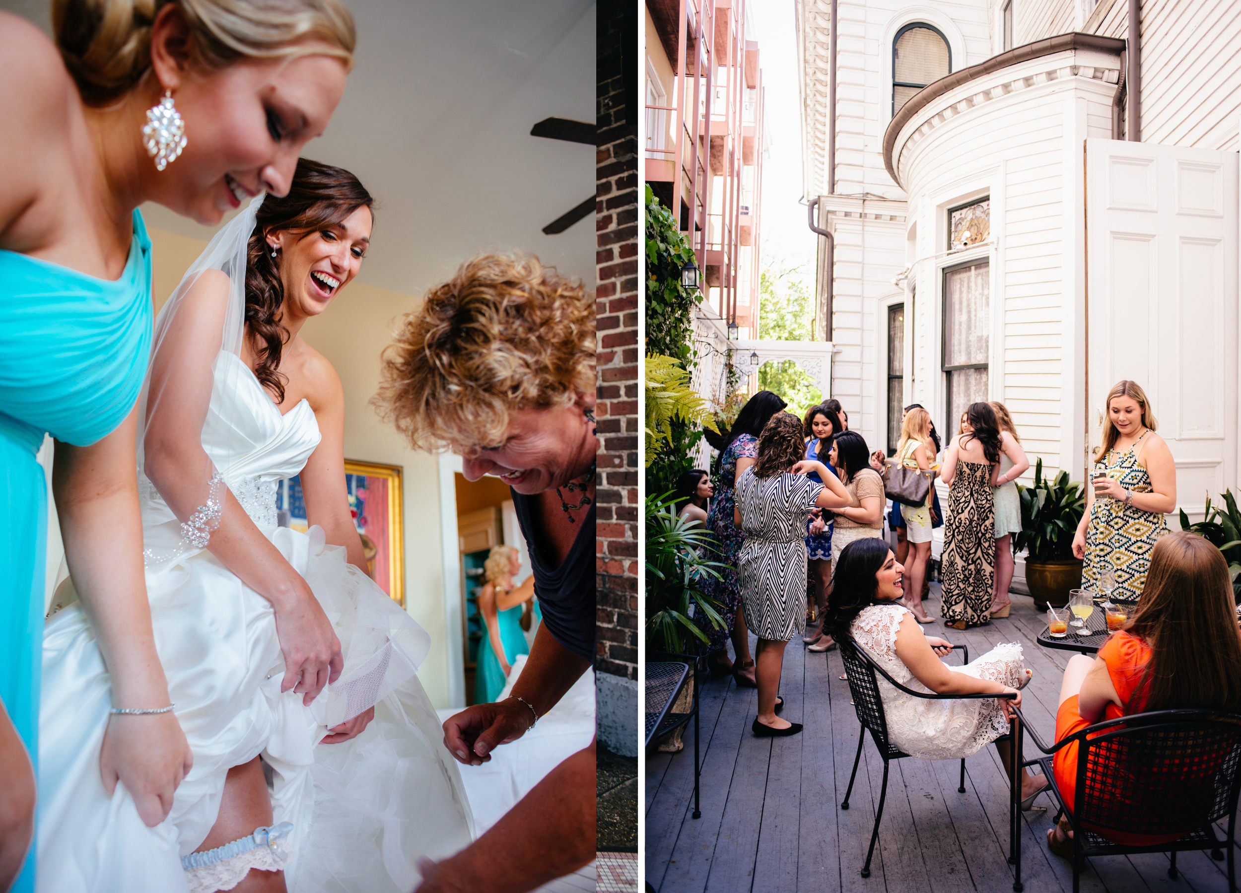 Holy Name of Jesus, New Orleans wedding; The Columns Hotel, New Orleans bridal shower