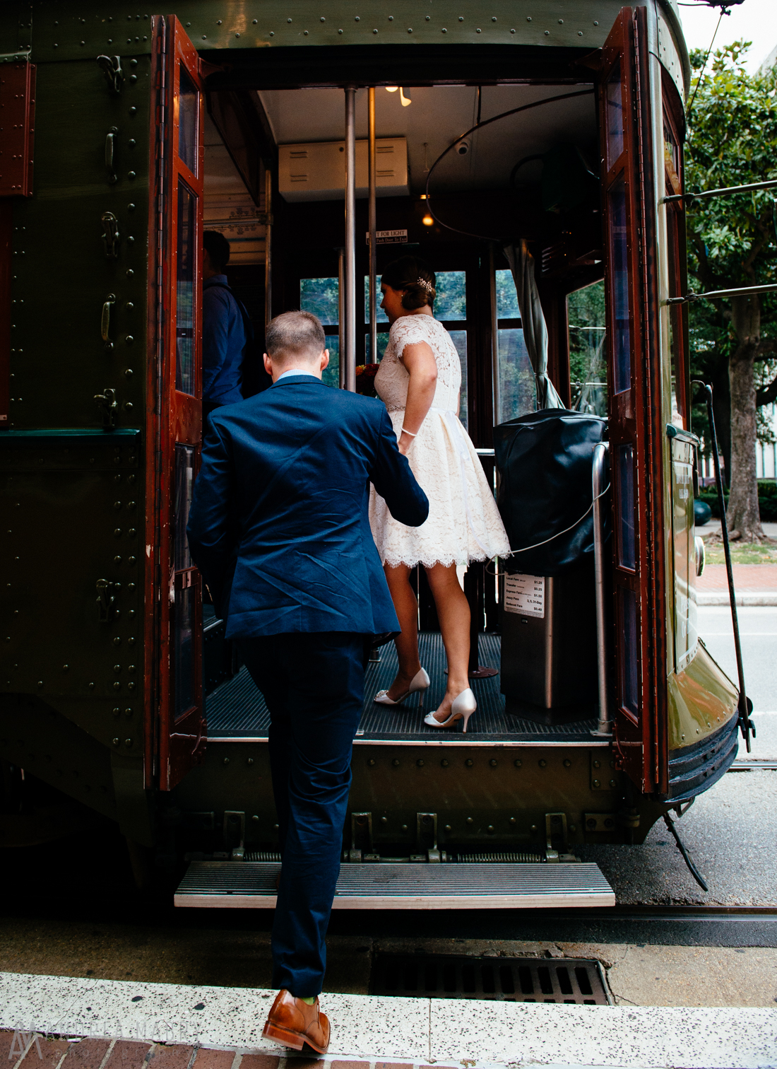 St. Charles Streetcar Wedding, New Orleans, Louisiana