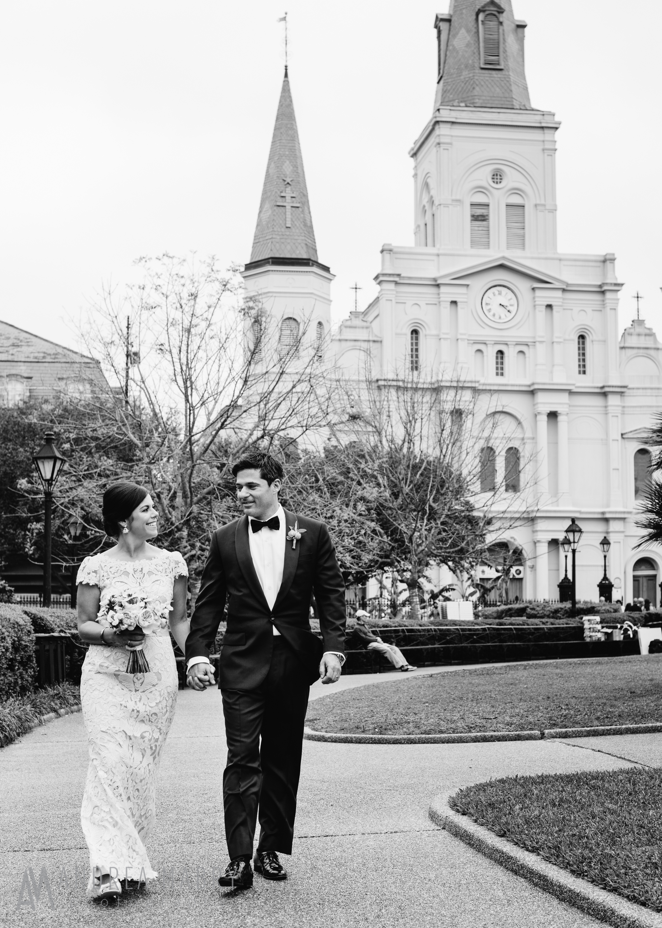 New Orleans French Quarter wedding, New Orleans Jackson Square wedding