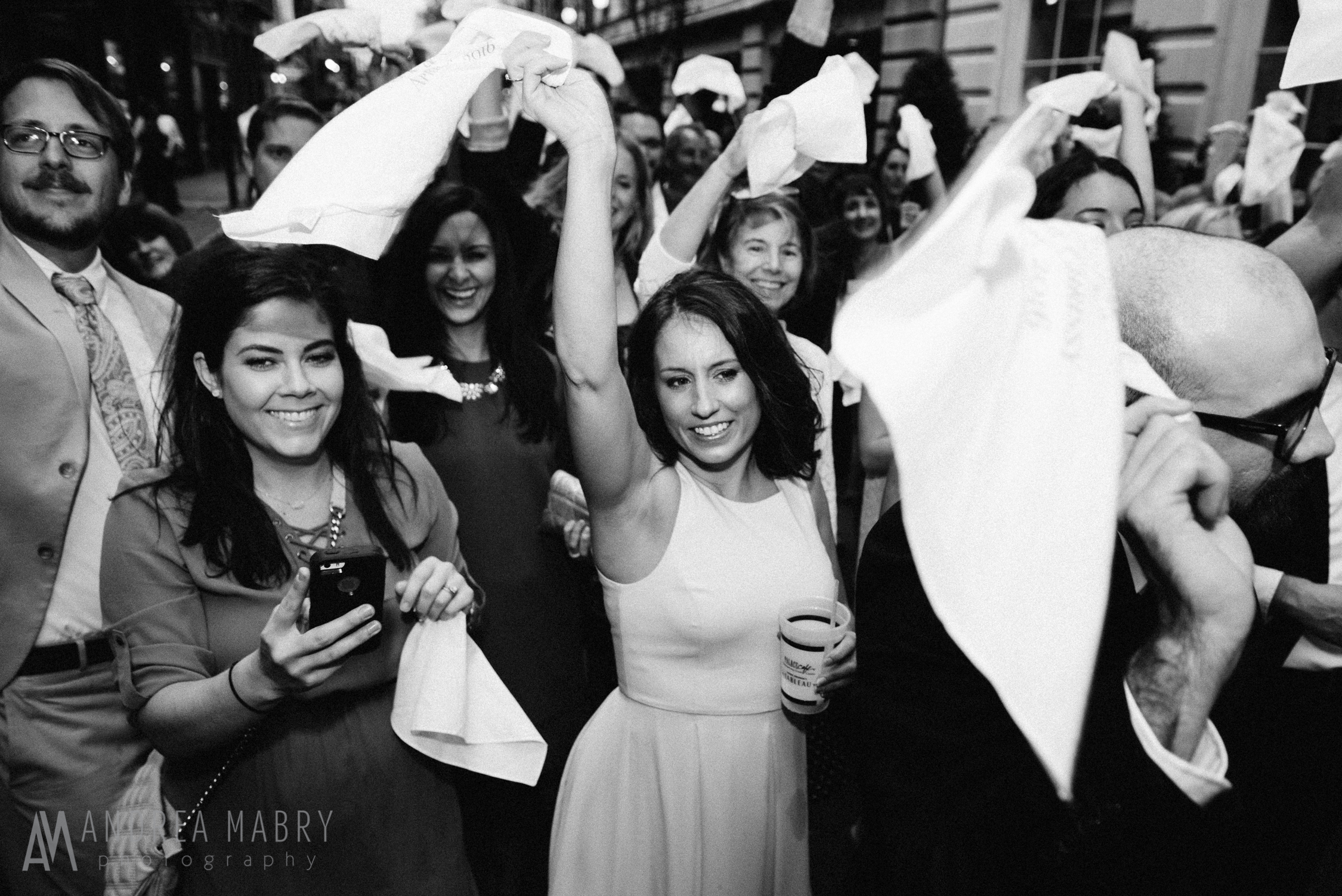 New Orleans French Quarter wedding second line