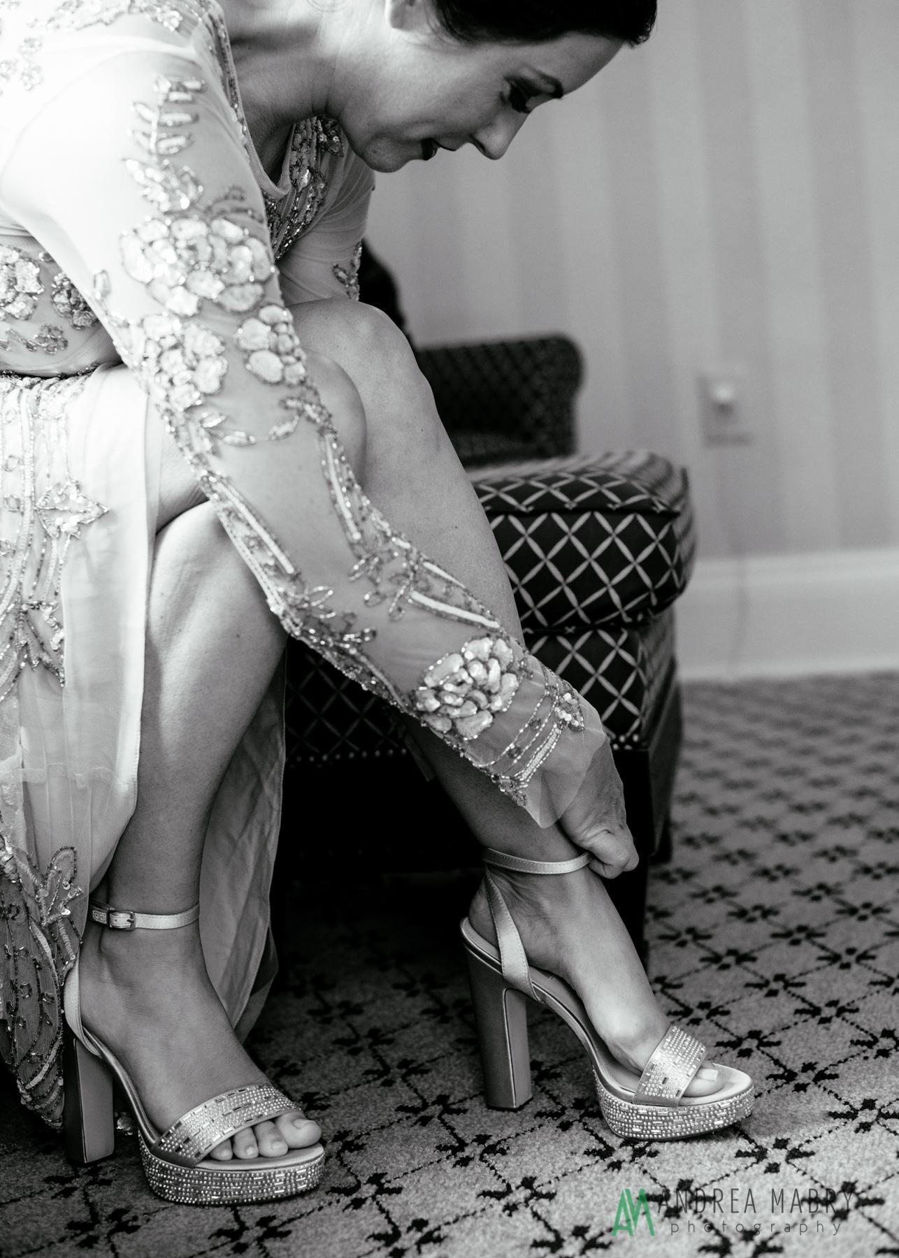 Bridal Preparation. Government Street Presbyterian Church Mobile Wedding. Andrea Mabry Photography.