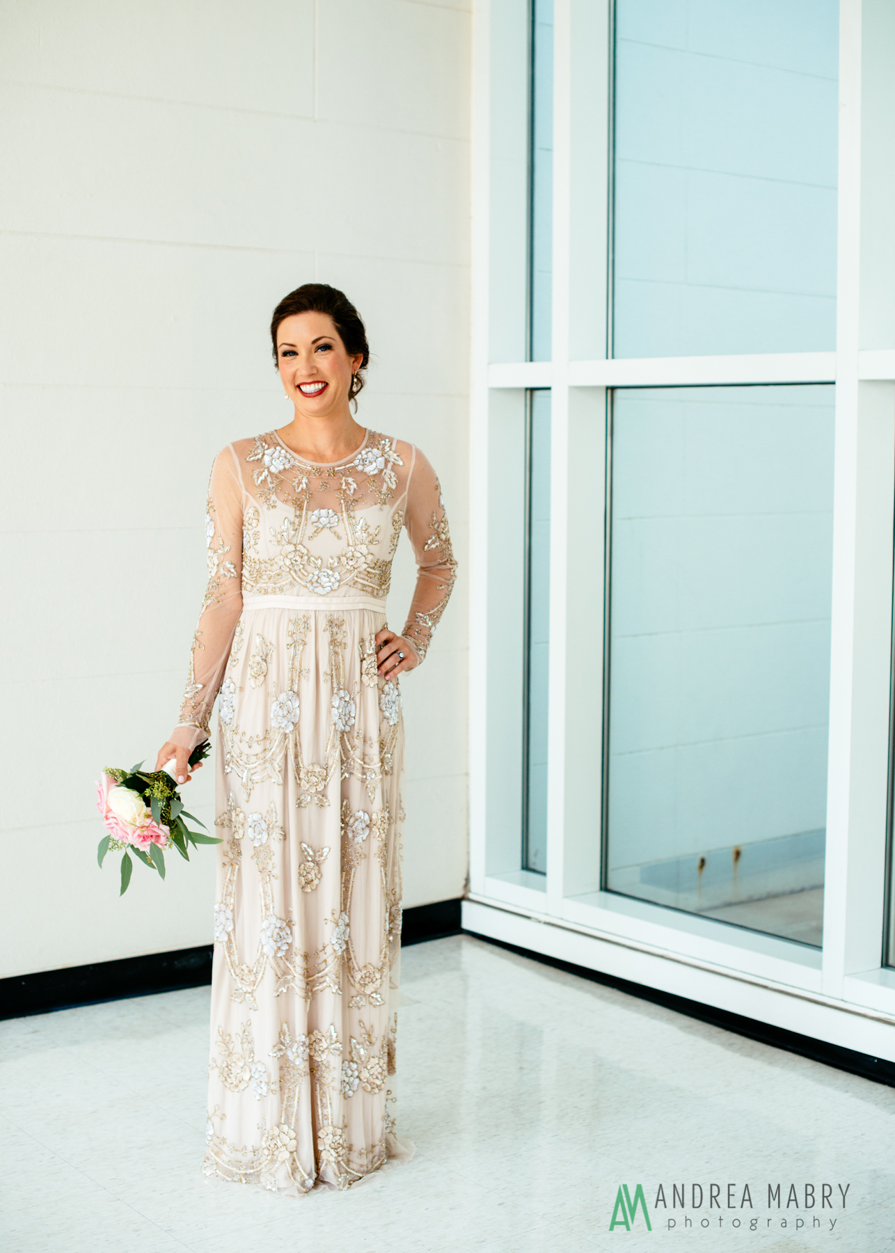 Bridal Portraits at the History Museum of Mobile. Government Street Presbyterian Church Mobile Wedding. Andrea Mabry Photography.